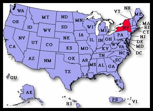 US Airport Dedication Covers New York - New york us map