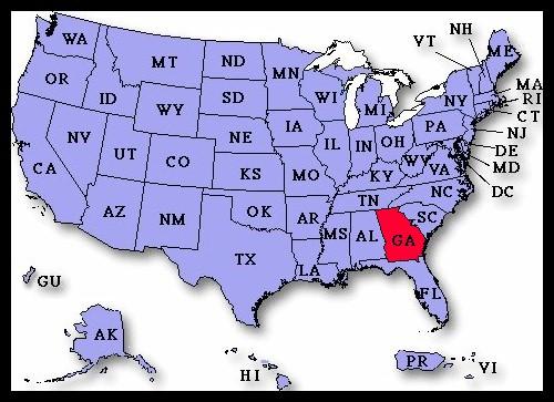 Georgia State Maps USA Maps Of Georgia GA Notebooking Across The