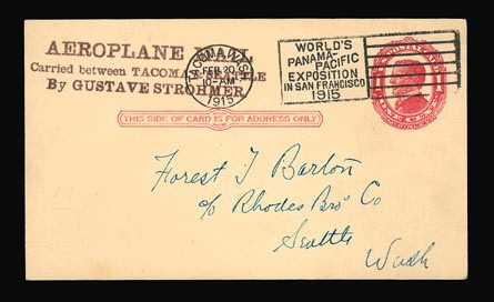 Pioneer Air Mail First Flights 1915