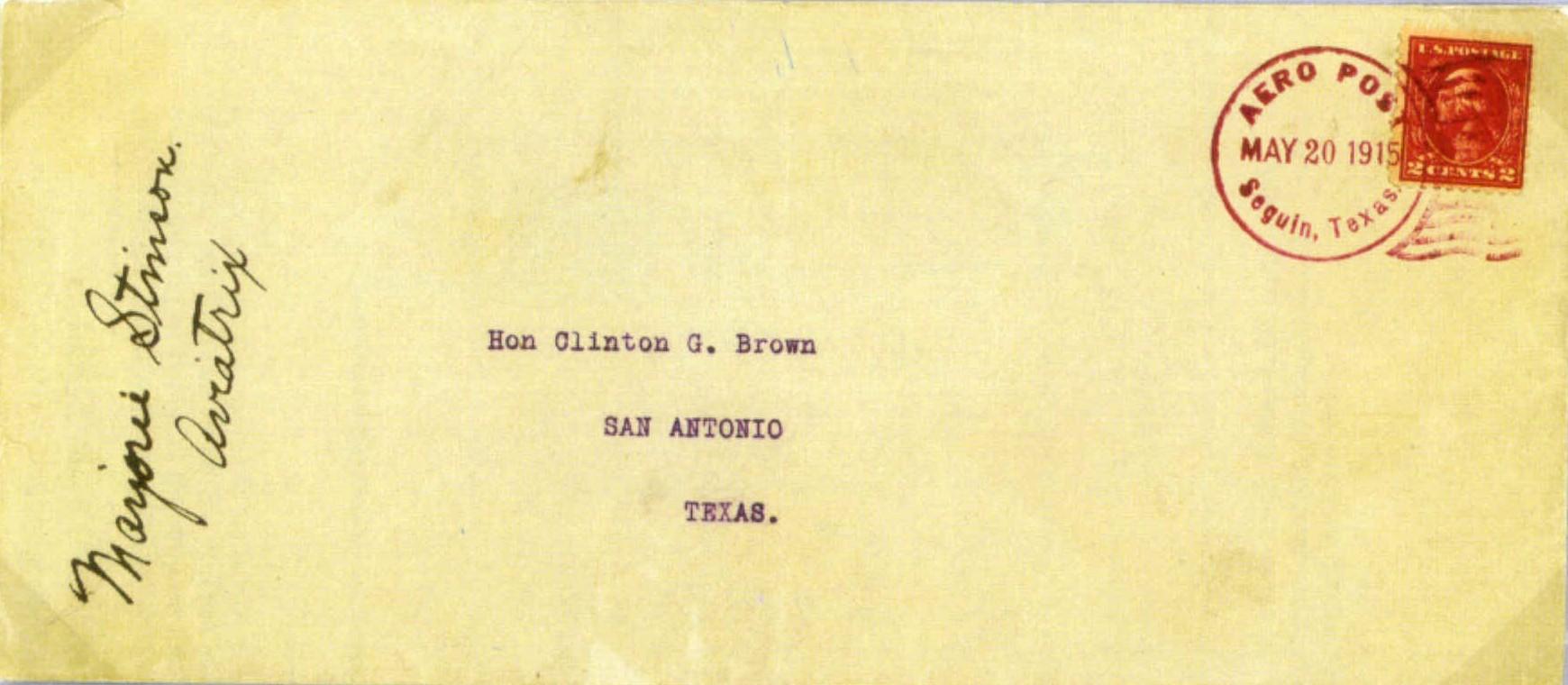 Pioneer Air Mail First Flights 1915