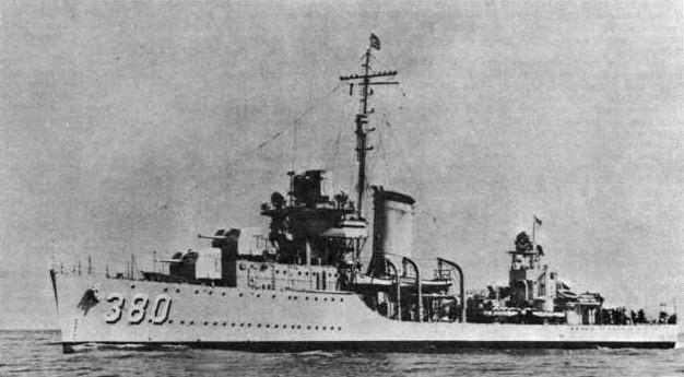 Destructores estadounidenses de la Segunda Guerra Mundial